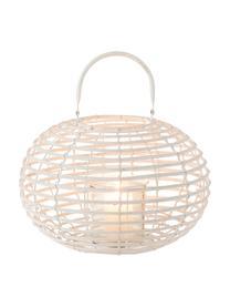 Rattan-Laterne Ball in Weiss, Weiss, Ø 34 x H 26 cm