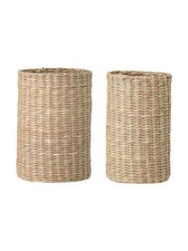 Komplet uchwytów na butelkę z trawy morskiej Basket, 2 elem., Trawa morska, Beżowy, Komplet z różnymi rozmiarami