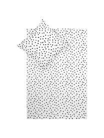Pościel z bawełny Jana, Biały, czarny, 135 x 200 cm