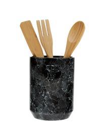 Set utensili da cucina Bubble 4 pz, Portautensili da cucina: ceramica, Nero, marrone, Ø 11 x Alt. 24 cm