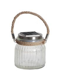 Solární venkovní lampa Glass Jar, Transparentní