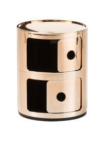 Design Container Componibili 2 Fächer, Kunststoff, metallicbeschichtet, Kupferfarben, Ø 32 x H 40 cm