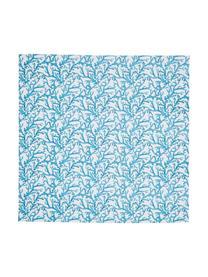 Nappe coton bleu Estran, Bleu, blanc