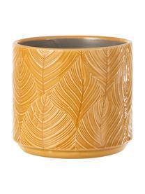 Portavaso Tropis, Ceramica, Giallo ocra, Ø 12 x Alt. 11 cm