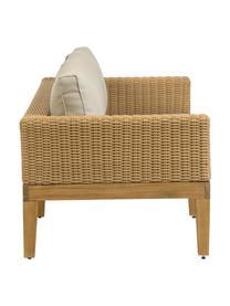 Garten-Loungesofa Giana (3-Sitzer), Füße: Akazienholz, Braun, B 193 x T 80 cm