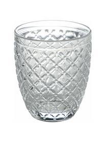 Set 6 bicchieri acqua Rombi, Vetro, Multicolore, Ø 3 x Alt. 10 cm