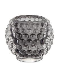 Ręcznie wykonany świecznik na podgrzewacze Doria, Szkło, Ciemnyszary, transparentny, Ø 9 cm