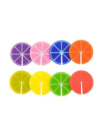 Identificadores de copas Fruit Party, 8uds., Silicona, Multicolor, Ø 4 cm