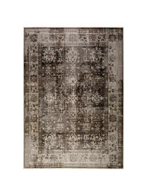 Tappeto vintage da interno-esterno Tilas Antalya, Tonalità grigie, nero, Larg. 200 x Lung. 290 cm (taglia L)