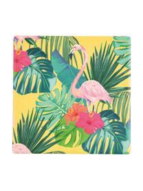 Untersetzer Tropics, 6 Stück, Oberseite: Keramik, Unterseite: Kork, Mehrfarbig, 10 x 0 cm