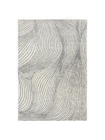 Ręcznie tkany dywan z wełny Waverly, 100% wełna Włókna dywanów wełnianych mogą nieznacznie rozluźniać się w pierwszych tygodniach użytkowania, co ustępuje po pewnym czasie, Biały, czarny, S 160 x D 230 cm (Rozmiar M)