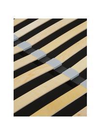 Gestoffeerd bed Cloud met opbergruimte, Frame: massief grenenhout, Bekleding: polyester (structuurmater, Geweven stof lichtgrijs, 180 x 200 cm