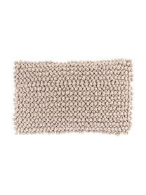 Kissenhülle Iona mit kleinen Stoffkugeln in Beige, Vorderseite: 76% Polyester, 24% Baumwo, Rückseite: 100% Baumwolle, Beige, 30 x 50 cm