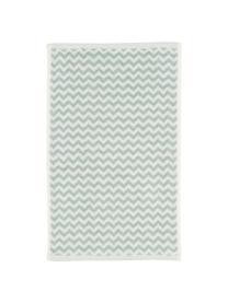 Handtuch Liv mit Zickzack-Muster, Mintgrün, Handtuch