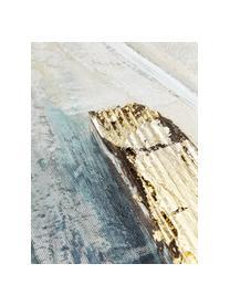 Toile peinte à la main Golden Blue I, Multicolore