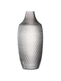 Große Glasvase Poesia, Glas, Grau, Ø 17 x H 40 cm