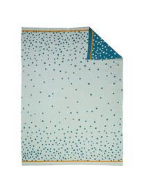 Strickdecke Happy Dots, Webart: Jacquard, Blau, 80 x 100 cm