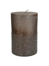Stumpenkerze Glitters, Wachs, Braun, Ø 10 x H 15 cm