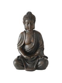 Oggetto decorativo Buddha, Materiale sintetico, Marrone scuro, Larg. 19 x Alt. 30 cm