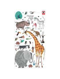 XL-Wandaufkleber-Set Animals, 39-tlg., Selbstklebende Vinylfolie, matt, Mehrfarbig, Sondergrößen