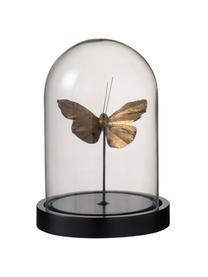 Deko-Objekt Butterfly, Glocke: Glas, Goldfarben Transparent, Schwarz, Ø 12 x H 17 cm