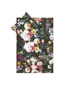 Katoenen dekbedovertrek Fleur, Weeftechniek: satijn Draaddichtheid 209, Groen, 260 x 220 cm