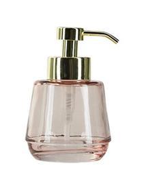 Zeepdispenser Lushi, Glas, Roze, transparant, Ø 7 x H 15 cm