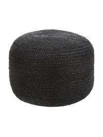 Ręcznie wykonany puf  z juty Bono, Tapicerka: juta, Czarny, Ø 50 x W 36 cm