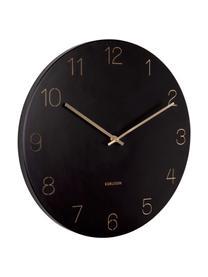 Reloj de pared Charm, Metal recubierto, Negro, latón, Ø 40 cm