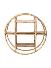 Mensola rotonda in bambù Sia, Canna, Marrone, Ø 52 x Prof. 20 cm