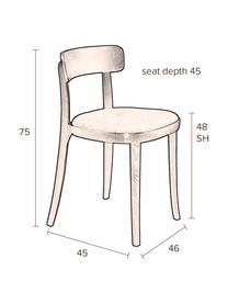 Samt-Polsterstuhl Brandon, Bezug: 100% Polyestersamt Der st, Rahmen: Eschenholz, massiv, lacki, Sitzfläche: Schichtholz, Gelb, B 46 x T 45 cm
