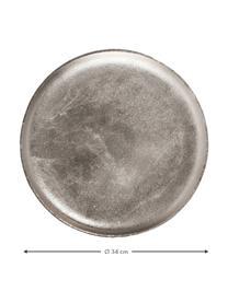 Deko-Tablett Bintel, Aluminium, Aluminium, Ø 34 cm
