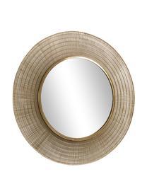 Okrągłe lustro ścienne Place, Odcienie mosiądzu, Ø 80 x G 2 cm