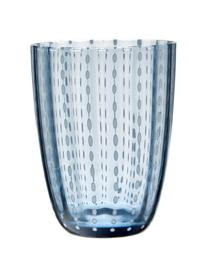 Set 6 bicchieri acqua con motivo in rilievo Kalahari, Vetro, Multicolore, Ø 9 x Alt. 11 cm