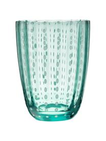 Wassergläser Kalahari in Blautönen, 6er-Set, Glas, Mehrfarbig, Ø 9 x H 11 cm