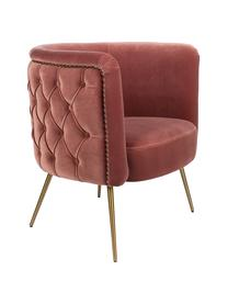 Fauteuil cocktail en velours rose Such A Stud, Velours rose vif