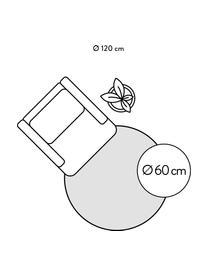 Rond handgeweven viscose vloerkleed Jane in lichtgrijs-beige, Bovenzijde: 100% viscose, Onderzijde: 100% katoen, Lichtgrijs-beige, Ø 250 cm (Maat XL)