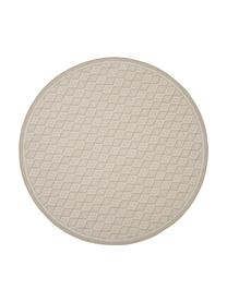 In- & outdoor vloerkleed Capri in beige/crèmekleur, 86% polypropyleen, 14% polyester, Wit, beige, Ø 200 cm (maat L)