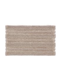 Weicher Badvorleger Nea mit Hoch-Tief-Muster in Sandfarben, verschiedene Größen, 65% Polyester, 35% Baumwolle, Sandfarben, 50 x 80 cm