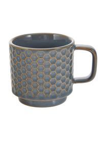 Set 4 tazze caffè Lara, Terracotta, Blu grigio, marrone, Ø 6 x Alt. 6 cm
