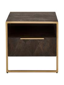 Nachttisch Harry aus Massivholz, Korpus: Massives Mangoholz, lacki, Mangoholz, 45 x 45 cm
