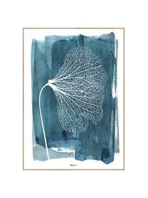 Gerahmter Digitaldruck White Ginko, Bild: Digitaldruck auf Papier (, Rahmen: Hochdichte Holzfaserplatt, Blau, Weiß, 50 x 70 cm