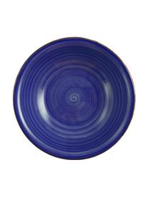 Assiette creuse peinte à la mainBaita, 6pièces, Bleu
