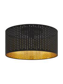 Deckenleuchte Varillas, Lampenschirm: Polyester, Gestell: Stahl, Schwarz, Goldfarben, Ø 48 x H 30 cm