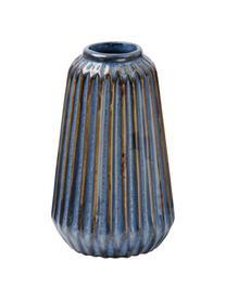 Komplet małych wazonów z porcelany Aquarel, 3 elem., Porcelana, Odcienie niebieskiego z gradientem, Komplet z różnymi rozmiarami