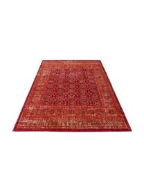 In & Outdoor-Teppich Tilas in Rot/Orange, Orient Style, 100% Polypropylen, Rot, Orange, Anthrazit, B 80 x L 150 cm (Größe XS)