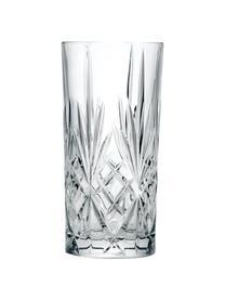 Kryształowa szklanka do koktajli Melodia, 6 szt., Szkło kryształowe, Transparentny, Ø 7 x W 15 cm