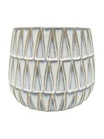 Macetero de cerámica Nomad, Cerámica, Blanco, beige, Ø 19 x Al 15 cm