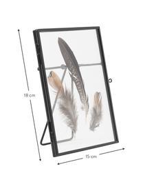 Ramka na zdjęcia Pioro, Czarny, transparentny, S 13 x D 18 cm