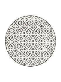 Set 18 piatti finemente decorati per 6 persone Piper, Terracotta, Antracite, beige, rosa cipria, tonalità grigie, verde oliva, Set in varie misure